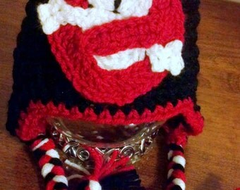Ghostbusters inspired Hat, crochet Pattern, Newborn to Adult