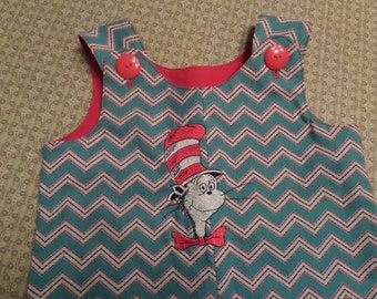 Cat In the Hat infant Overalls