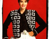 Instant Download PDF Crochet Pattern to make a Womens Bolero Matador Jacket Adjustable Length Granny Squares 2 sizes up to 40 inch bust