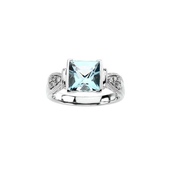 Gems and Jewels 6mm 14K Rose Gold Over 1//2 Ct Blue Topaz /& White Simulated Diamond Half Eternity Mens Anniversary Wedding Band Ring