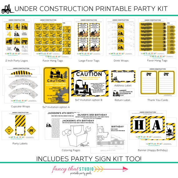 Construction Birthday Under Construction Party By