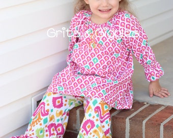 The Meghan Ruffle Pants- Double and Single Ruffle PDF Pattern