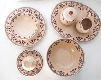REDUCED 35 Piece Set of Johnson Brothers English Ironstone Dishes Danube