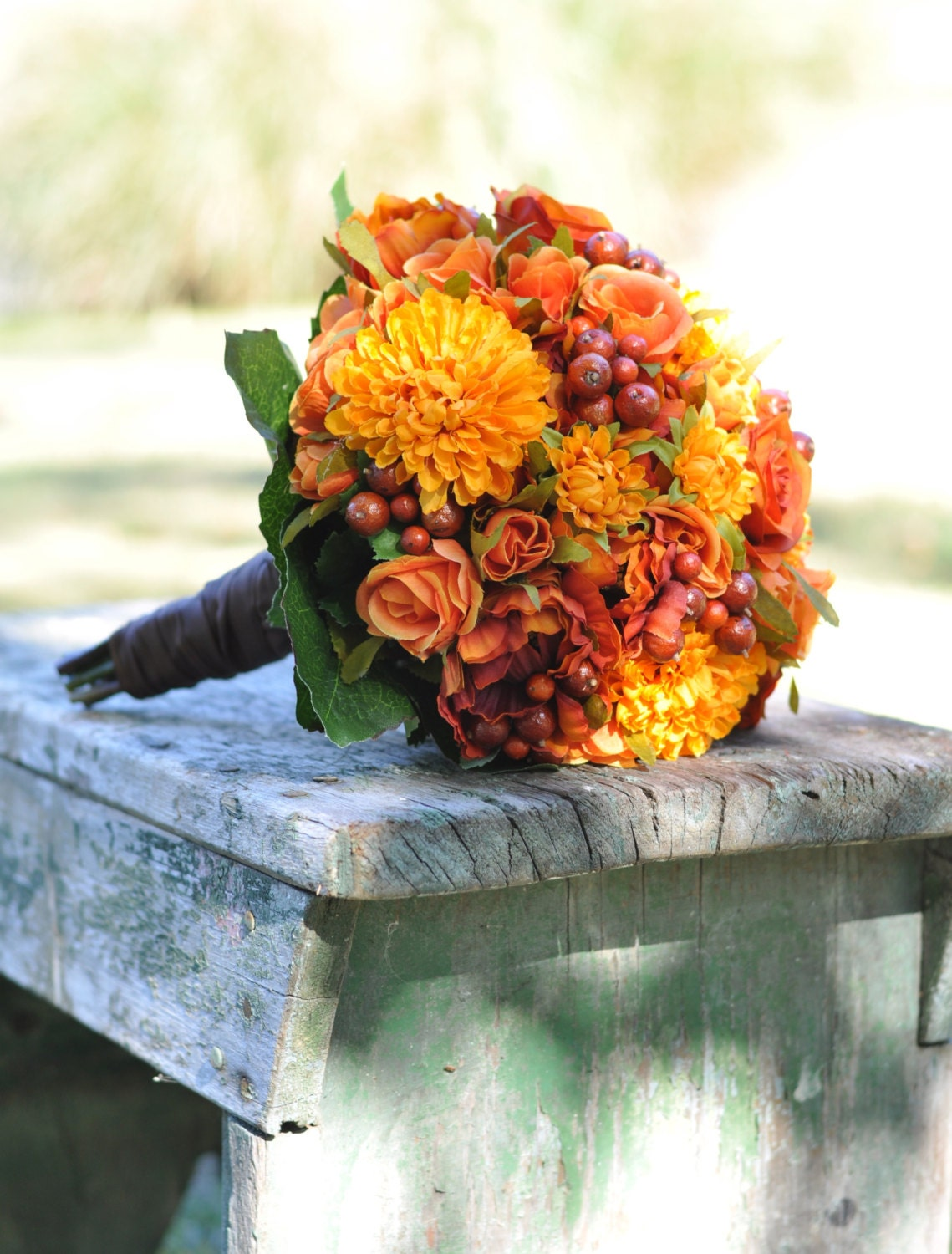 fall wedding flower bouquets silk wedding bouquet fall wedding bouquet keepsake bouquet 4033