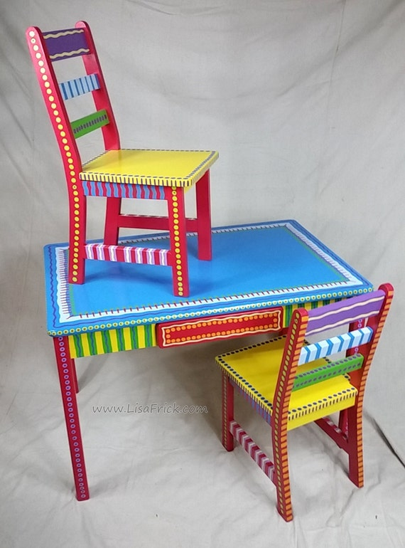 Funky Custom Made Child's Table & Chairs
