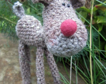 Crochet Pattern for Spangle the Reindeer
