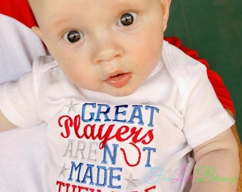 Great Players are not made they are born - Baseball - hero - baseball shirt - baseball fan - baby shower gift - fathers day