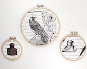 Embroidery Hoop Art Set Edgar Allan Poe Nevermore Collection by Michael Miller
