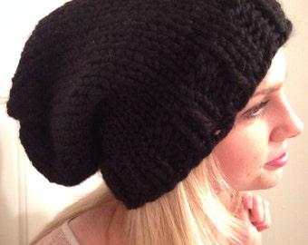 Sails Slouchy  Black Hat