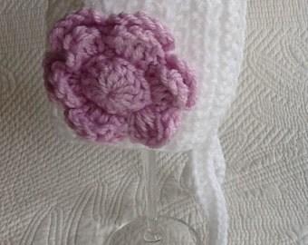 Easter Bonnet, Easter, White Easter Bonnet, Crochet Baby Bonnet with Flower, Newborn Hat, Baby Girl Hat, Crochet Baby Hat