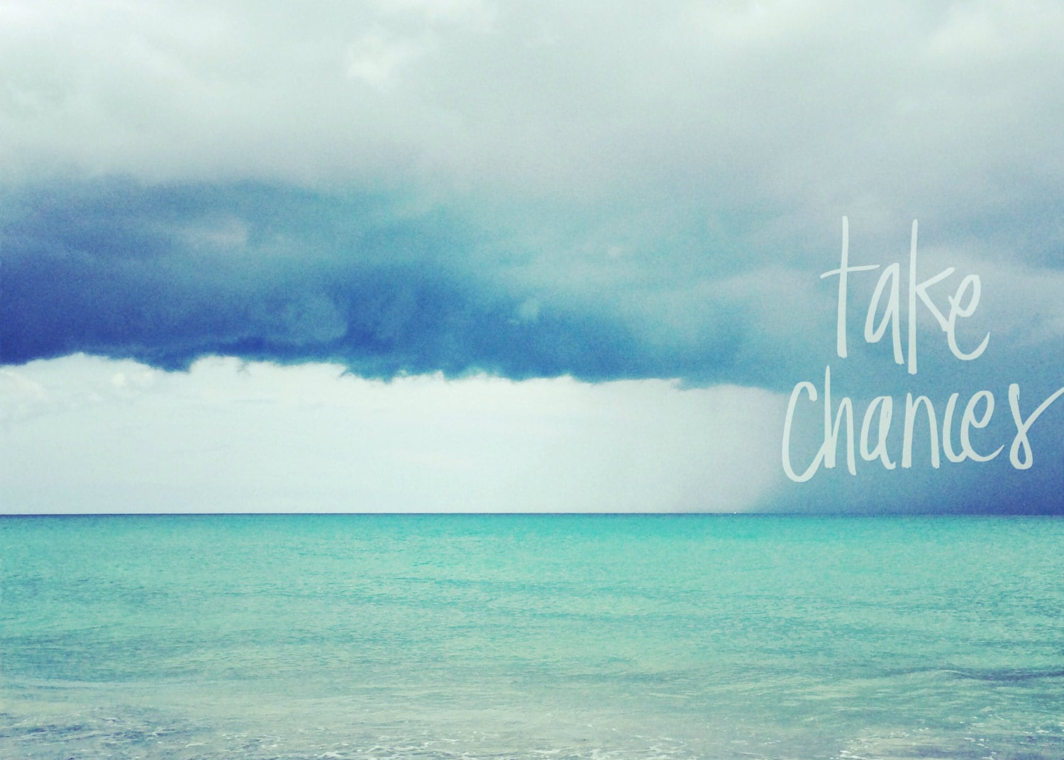 Beach Quote Wall Art Blue Ocean Photography Inspirational