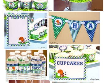 Sports Birthday Party Ready To Go Package Printable DIY Package