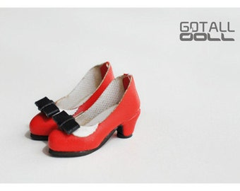 20% OFF - GOTALL doll handmade Lady's High-heeled Shoes for Blythe doll - doll shoes - Red