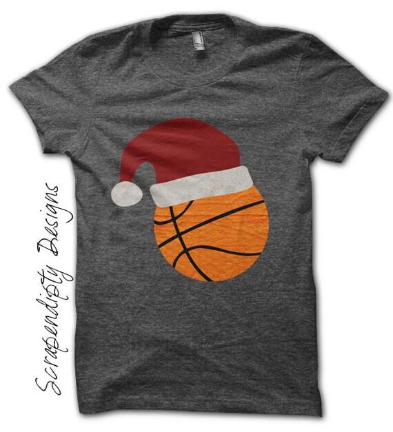 Basketball Iron on Transfer - Iron on Christmas Shirt PDF / Boys Christmas Outfit / Santa Basketball T-Shirt / Kids Orange Clothing IT326-P