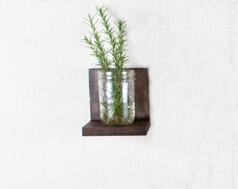 Floating Shelf - Set of 5 - Sconce Shelf - Espresso Shelves - Wall Storage - Bookshelves - Espresso, Willow, Cherry, Black - Simple
