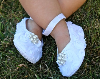 Baptism Baby Shoes - White Baby Shoes