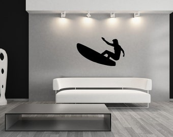Surfer Wall Decal - Surfer Style A - Beach Decor - Ocean Wall Decals - Kids Rooms Decals  22426