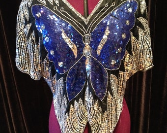 Butterfly Bodice in Sparkly Sequins