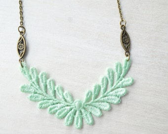 Mint Lace Necklace