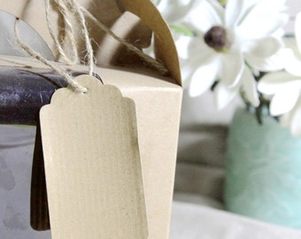 Corrugated KRAFT Card Hang Tags: 10 Pieces