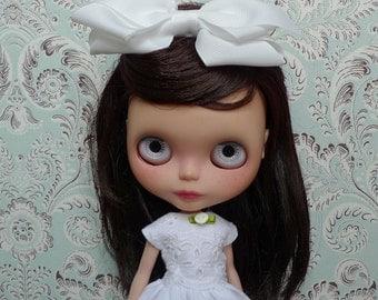 SALE % White Eyelet Embroidery Maxi Blythe Dress with Petticoat Set | Pullip Dress