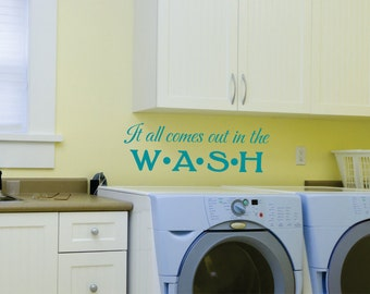 Laundry Room Decal - Wall Decal - Laundry Room Vinyl Decal - Household Decals