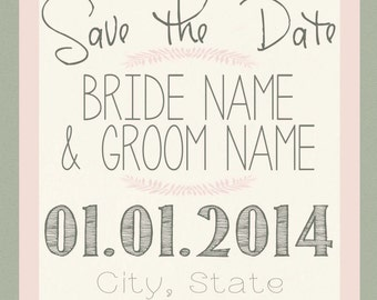 Flower Save the Date - digital file