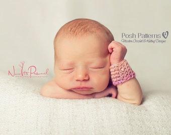 Crochet PATTERN - Crochet Wrist Warmers Pattern - Crochet Bracelet Pattern - Instant Download PDF 220 - 9 Sizes Newborn to Large Adult
