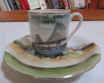 Mackinac Island Michigan Teacup & Saucer