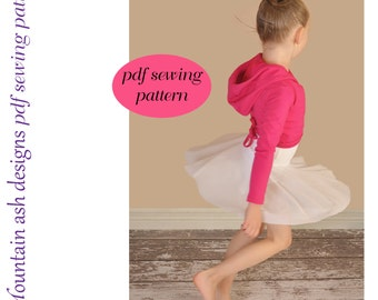 Ballet Wrap Top sewing pattern girls sizes 1-14