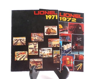 Vintage Lionel Train Catalogs - 1971 - 1972 - Model Railroad - Train Sets - Vintage Ads - Toy Trains