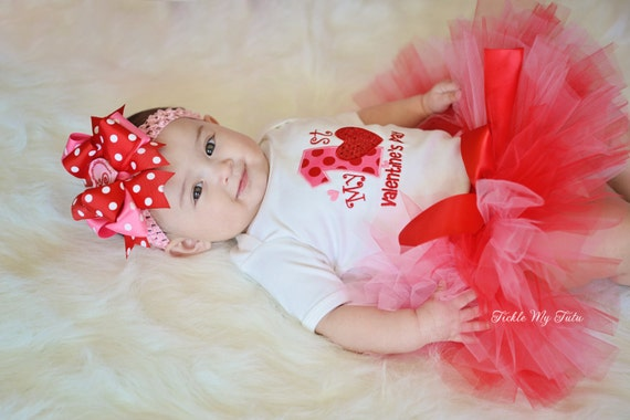My First Valentine\'s Day Tutu Outfit-My First