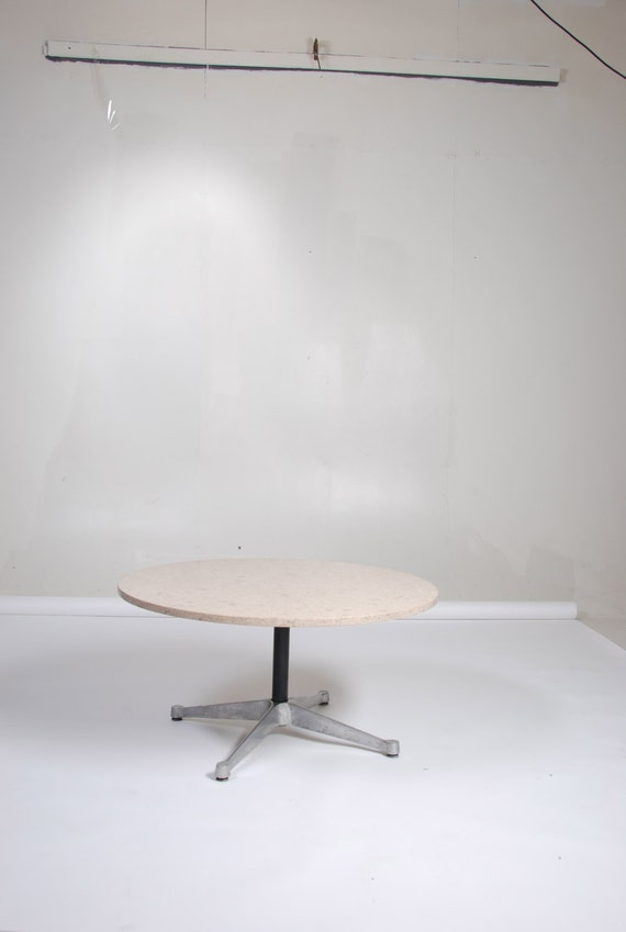 Herman Miller Eames Round Coffee Table With Fossilized Marble : il570xN614294765e8nv from www.etsy.com size 570 x 849 jpeg 25kB