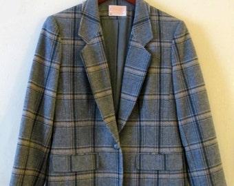 Pendleton Plaid Wool Jacket S 36 Bust