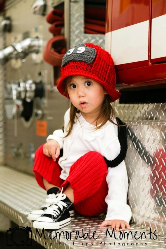 Fire Helmet- Hat Only- Photo Prop