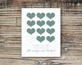 Custom Hearts Wedding Print, Valentine's Day Gift - Print by MJDandSupply