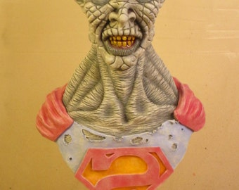 Bizarro OOAK Small-Scale Polymer Clay Bust