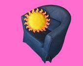 Sun Pillow Crochet Pattern - Summer Pillow Crochet Pattern - Sunny Pillow - Happy Hippy - Flower Power - PDF Pattern - Crochet Sun Pattern