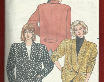 Vintage 1986  Butterick 4248 Powerful Woman's Double Breasted Jacket with Strong Shoulders Sizes 6..8..10 UNCUT