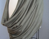 """Reserved for JoAnne: Olive Green Jersey Knit Infinity Wrap """"Madison"""""""