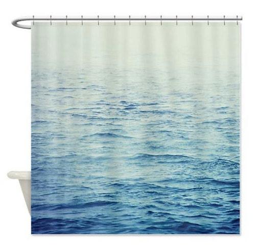 Shower Curtain Ocean Photography Foggy Ocean by DebbraObertanecArt