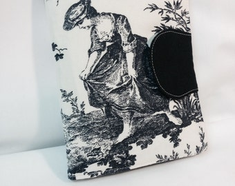 iPad Mini, Toile Kindle Paperwhite eReader Cover, Nook, Kobo Cover, Kindle Cover -Laura Ashely French Toile