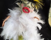 Flamboyant Frank the Zombie. Where will you be when the virus strikes? OOAK art doll