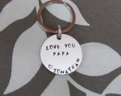 Personalized  Key Chain - DAD-  Love You -Father's Day - Christimas  - gift for him - Gift bag included