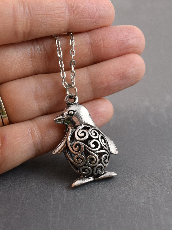 penguin necklace animal jewelry penguin pendant penguin