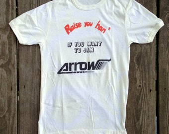 original ARROW Tour Shirt - 1970's - Size Extra Small/ Small