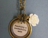 Psalm 139 Locket necklace  fearfully and wonderfully made women girls