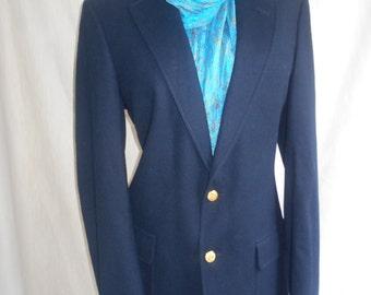 Mens English Mod navy blue single breasted dapper blazer notched lapel.38r mb0013