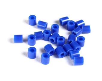 5mm blue tube acrylic beads - large hole - Hama beads - Fuse beads (1469) - Flat rate shipping