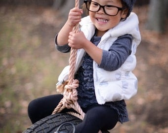 Kids Cable Knit Hat Girls Beanie Gray Toddler Hat Crochet Childrens Cap Knitted Hat